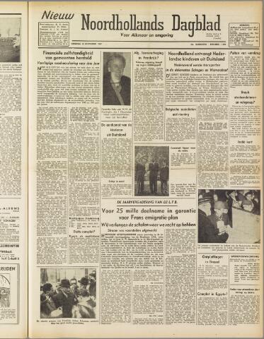 Nieuw Noordhollandsch Dagblad : voor Alkmaar en omgeving 1947-11-25