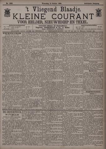 Vliegend blaadje : nieuws- en advertentiebode voor Den Helder 1890-10-15