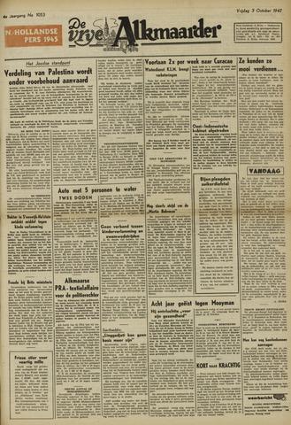 De Vrije Alkmaarder 1947-10-03