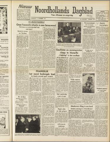 Nieuw Noordhollandsch Dagblad : voor Alkmaar en omgeving 1947-11-13