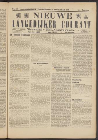 Nieuwe Langedijker Courant 1931-11-19
