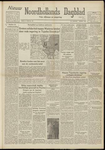 Nieuw Noordhollandsch Dagblad : voor Alkmaar en omgeving 1948-02-27