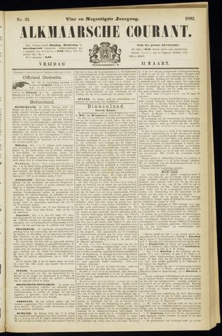 Alkmaarsche Courant 1892-03-11
