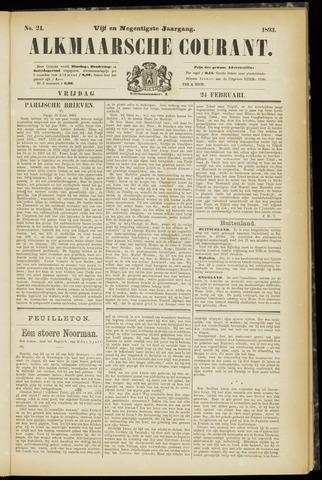 Alkmaarsche Courant 1893-02-24