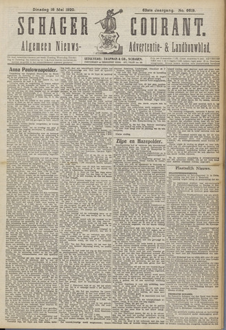 Schager Courant 1920-05-18