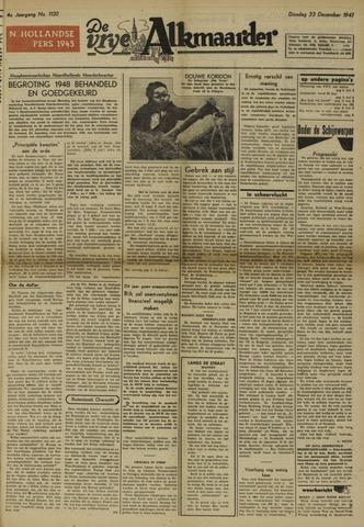De Vrije Alkmaarder 1947-12-23