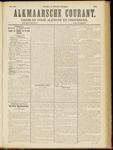 Alkmaarsche Courant 1911-10-05