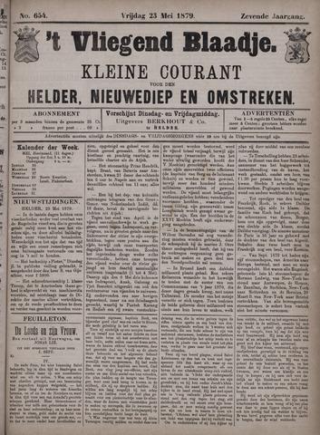 Vliegend blaadje : nieuws- en advertentiebode voor Den Helder 1879-05-23