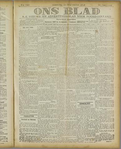 Ons Blad : katholiek nieuwsblad voor N-H 1919-09-15