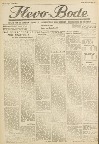 Flevo-bode: nieuwsblad voor Wieringen-Wieringermeer 1948-04-07