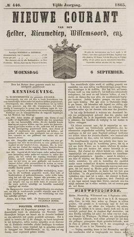 Nieuwe Courant van Den Helder 1865-09-06
