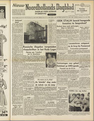 Nieuw Noordhollandsch Dagblad : voor Alkmaar en omgeving 1951-11-06