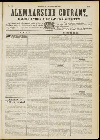 Alkmaarsche Courant 1912-09-16