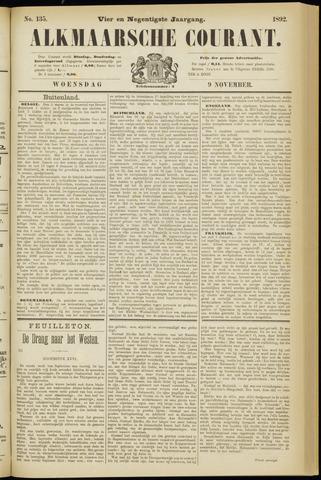 Alkmaarsche Courant 1892-11-09