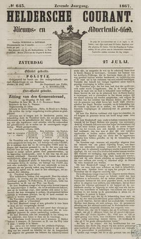 Heldersche Courant 1867-07-27