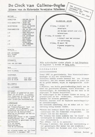 De Clock van Callens-Ooghe 1987-09-01