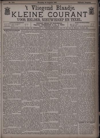 Vliegend blaadje : nieuws- en advertentiebode voor Den Helder 1887-08-24