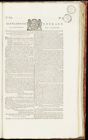 Alkmaarsche Courant 1834-01-20