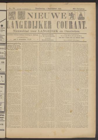 Nieuwe Langedijker Courant 1921-09-01