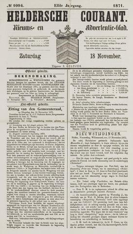 Heldersche Courant 1871-11-18