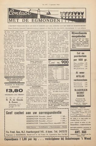 Contact met de Egmonden 1964-09-03