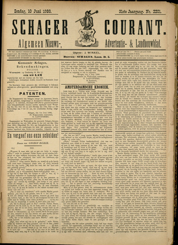 Schager Courant 1888-06-10