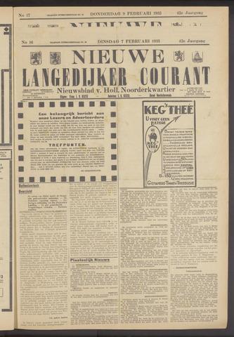Nieuwe Langedijker Courant 1933-02-07