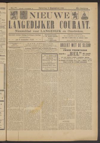 Nieuwe Langedijker Courant 1921-09-03