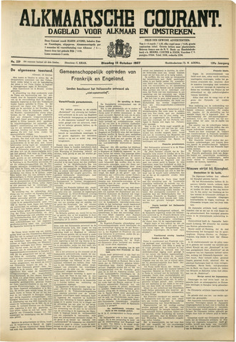 Alkmaarsche Courant 1937-10-12