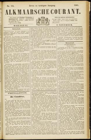 Alkmaarsche Courant 1885-11-11