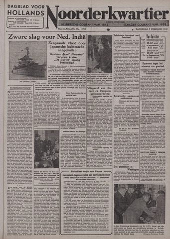 Dagblad voor Hollands Noorderkwartier 1942-02-07