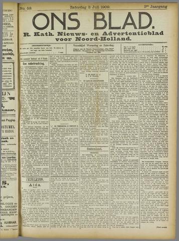 Ons Blad : katholiek nieuwsblad voor N-H 1909-07-03