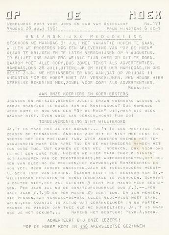 Op De Hoek, weekblad voor Akersloot 1961-07-28