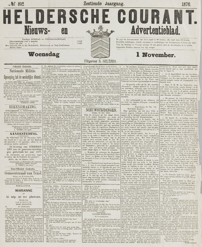 Heldersche Courant 1876-11-01