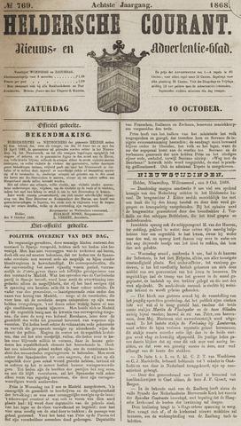 Heldersche Courant 1868-10-10