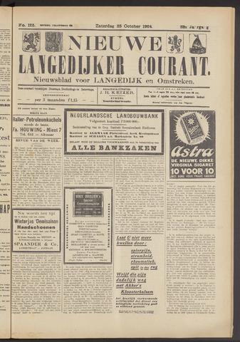 Nieuwe Langedijker Courant 1924-10-25