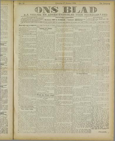 Ons Blad : katholiek nieuwsblad voor N-H 1920-01-17