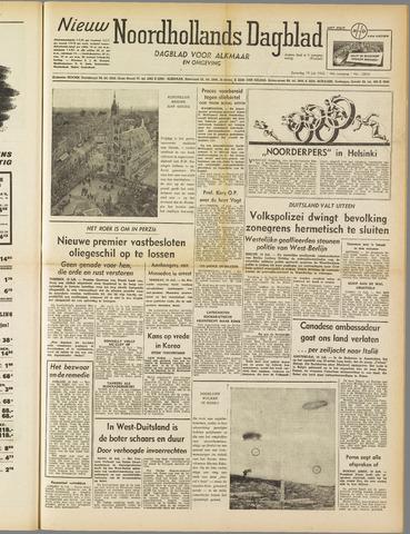 Nieuw Noordhollandsch Dagblad : voor Alkmaar en omgeving 1952-07-19