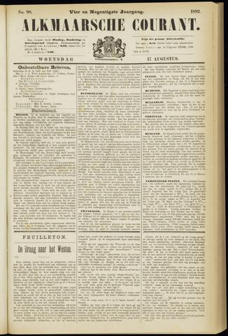 Alkmaarsche Courant 1892-08-17