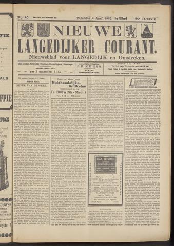 Nieuwe Langedijker Courant 1925-04-04