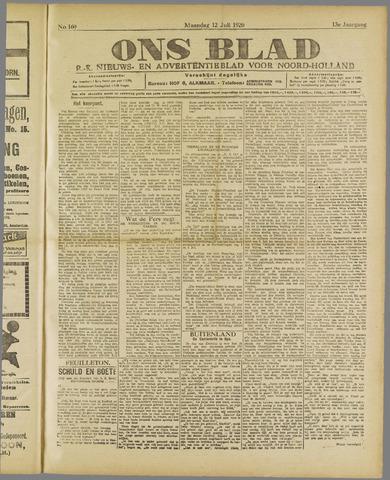 Ons Blad : katholiek nieuwsblad voor N-H 1920-07-12