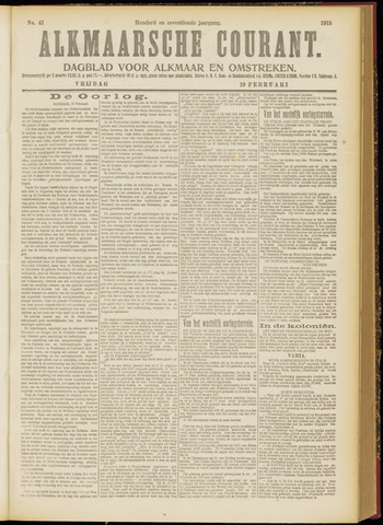 Alkmaarsche Courant 1915-02-19