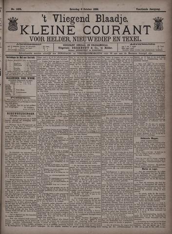 Vliegend blaadje : nieuws- en advertentiebode voor Den Helder 1886-10-09
