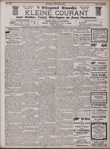 Vliegend blaadje : nieuws- en advertentiebode voor Den Helder 1903-11-14