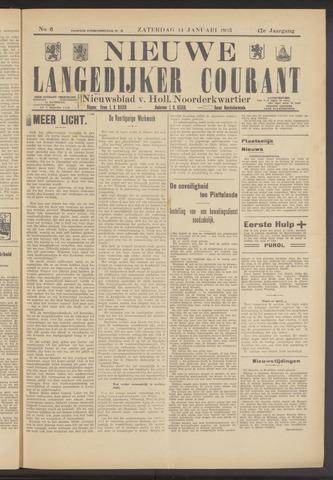 Nieuwe Langedijker Courant 1933-01-14
