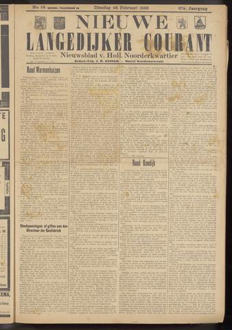 Nieuwe Langedijker Courant 1928-02-28