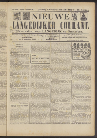 Nieuwe Langedijker Courant 1923-11-03