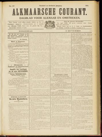 Alkmaarsche Courant 1911-09-14