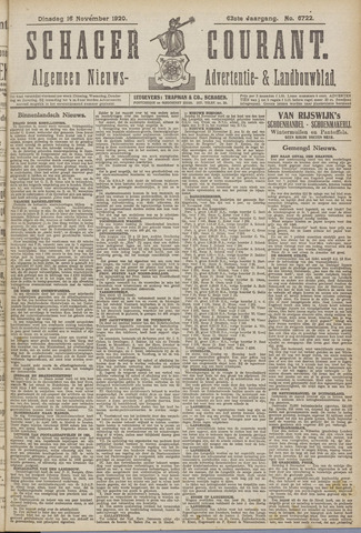 Schager Courant 1920-11-16