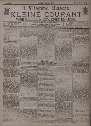 Vliegend blaadje : nieuws- en advertentiebode voor Den Helder 1886-01-09